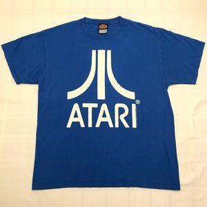 Retro Atari T Shirt Blue Size LRG
